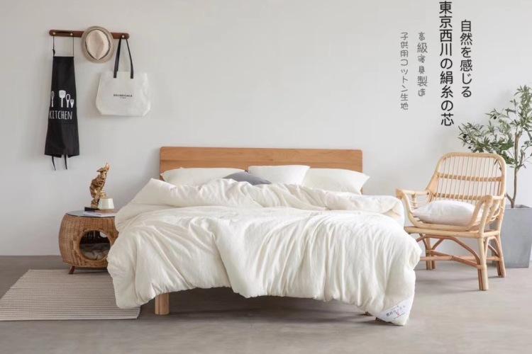 真正出口日本的蚕丝被,TOP级品质,全套包装吊牌商标齐全